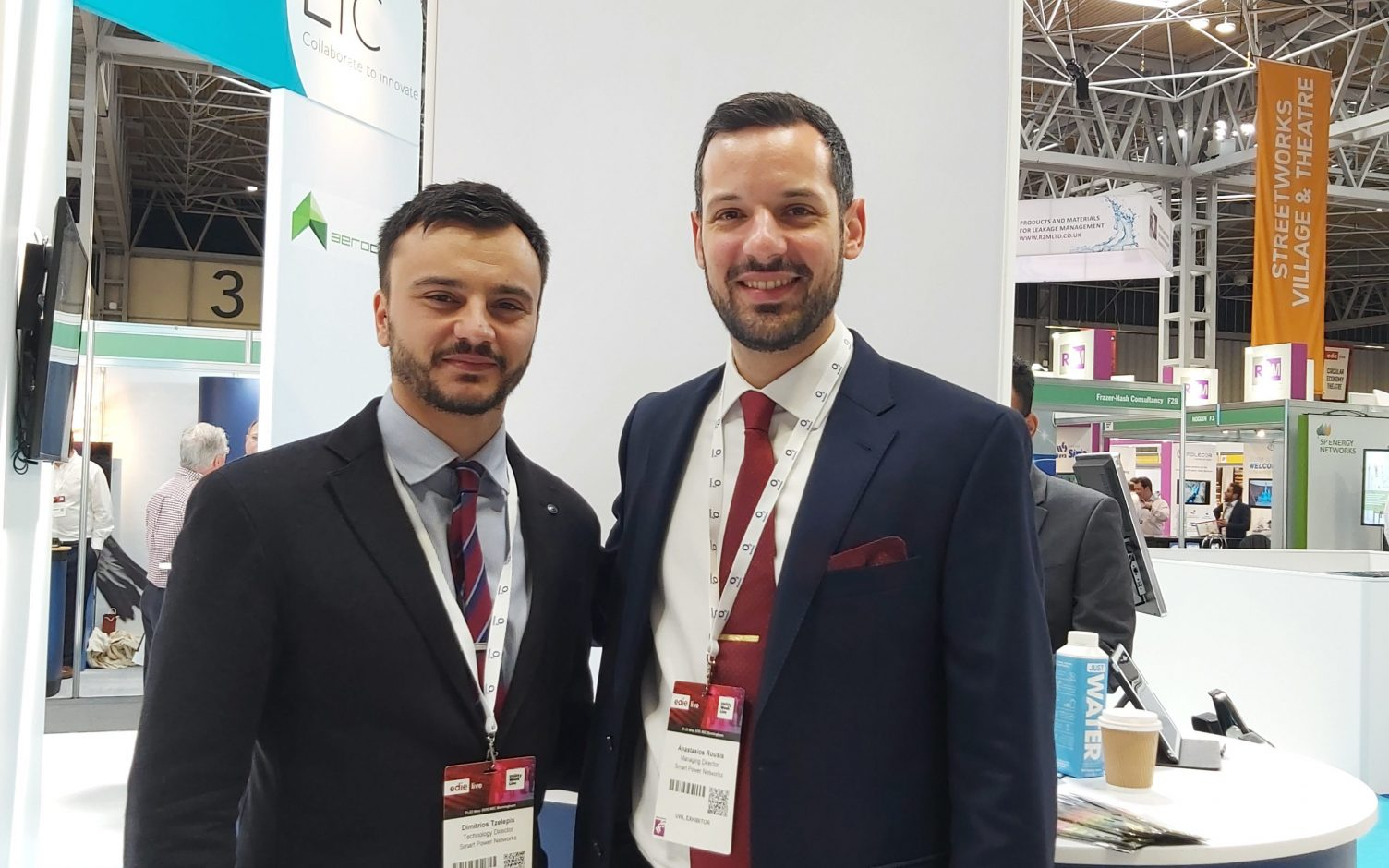 Anastasios Oulis Rousis, CEO and co-founder (right). Image: Smart Power Networks.