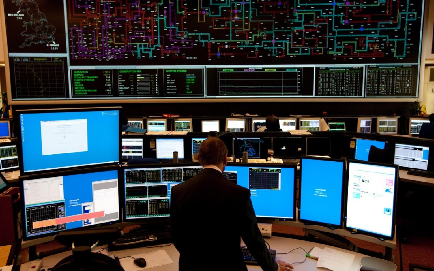 """""""Managing this combination of low demand and high renewables shows that we can operate a greener grid, and sooner than we thought,"""" says Quinn. Image: National Grid ESO."""