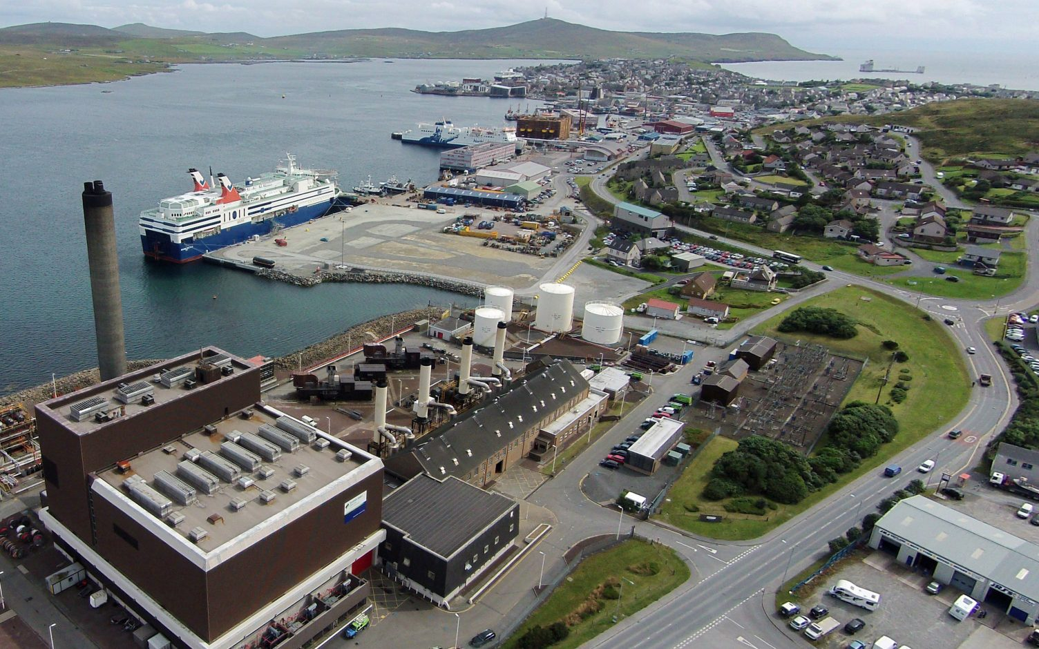 A 6MWh Wärtsilä energy storage system is being installed at the Lerwick power station. Image: SSEN.