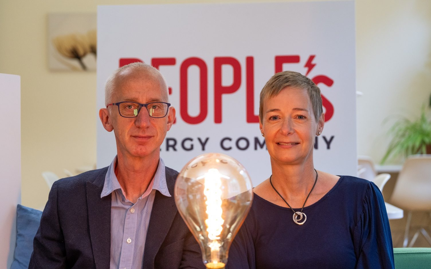 David Pike and Karin Sode, co-founders of People's Energy. Image: People's Energy