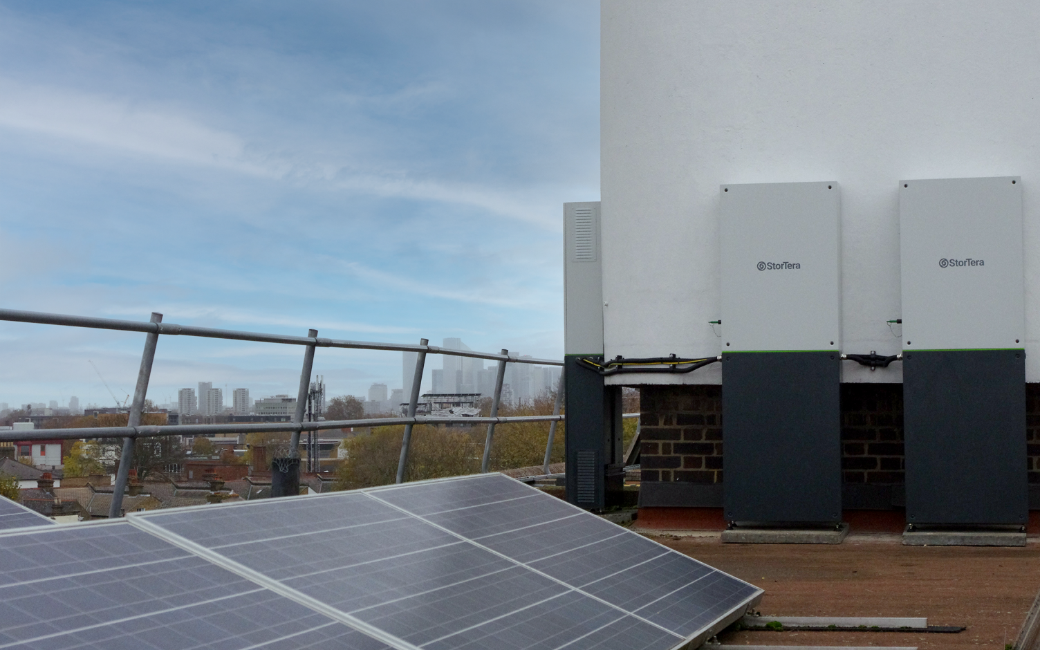 A battery system was recently installed as part of the trial. Image: EDF.