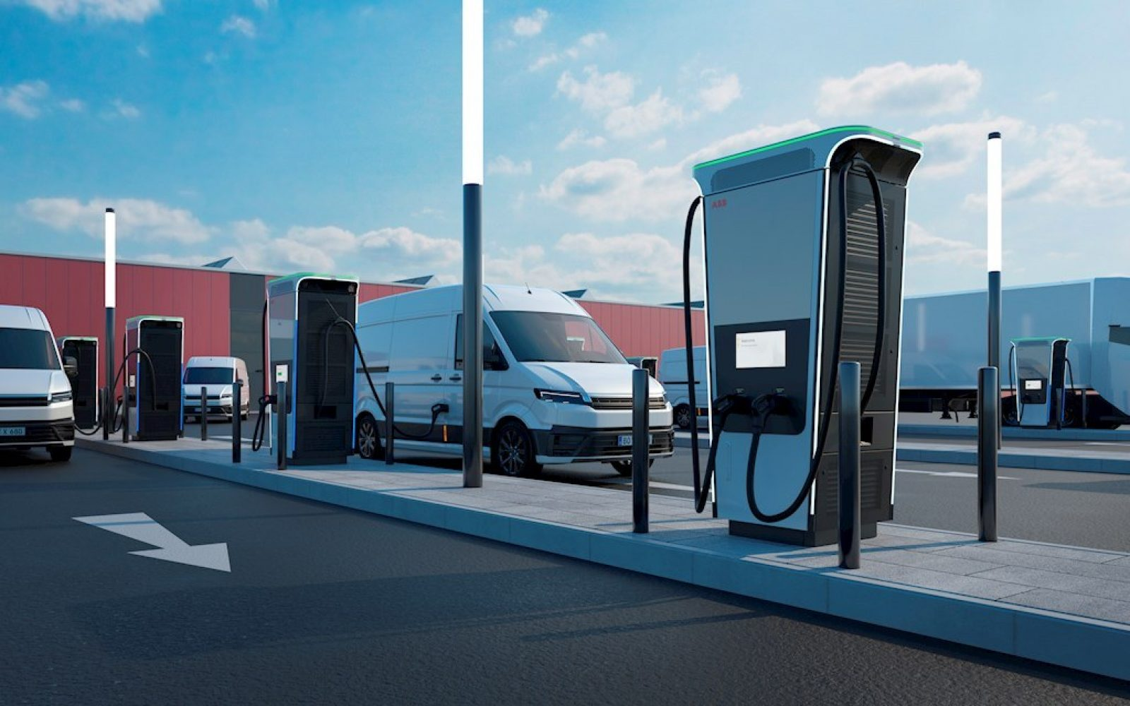 The Terra 360 charger allows up to four electric vehicles to charge at once. Image: ABB.