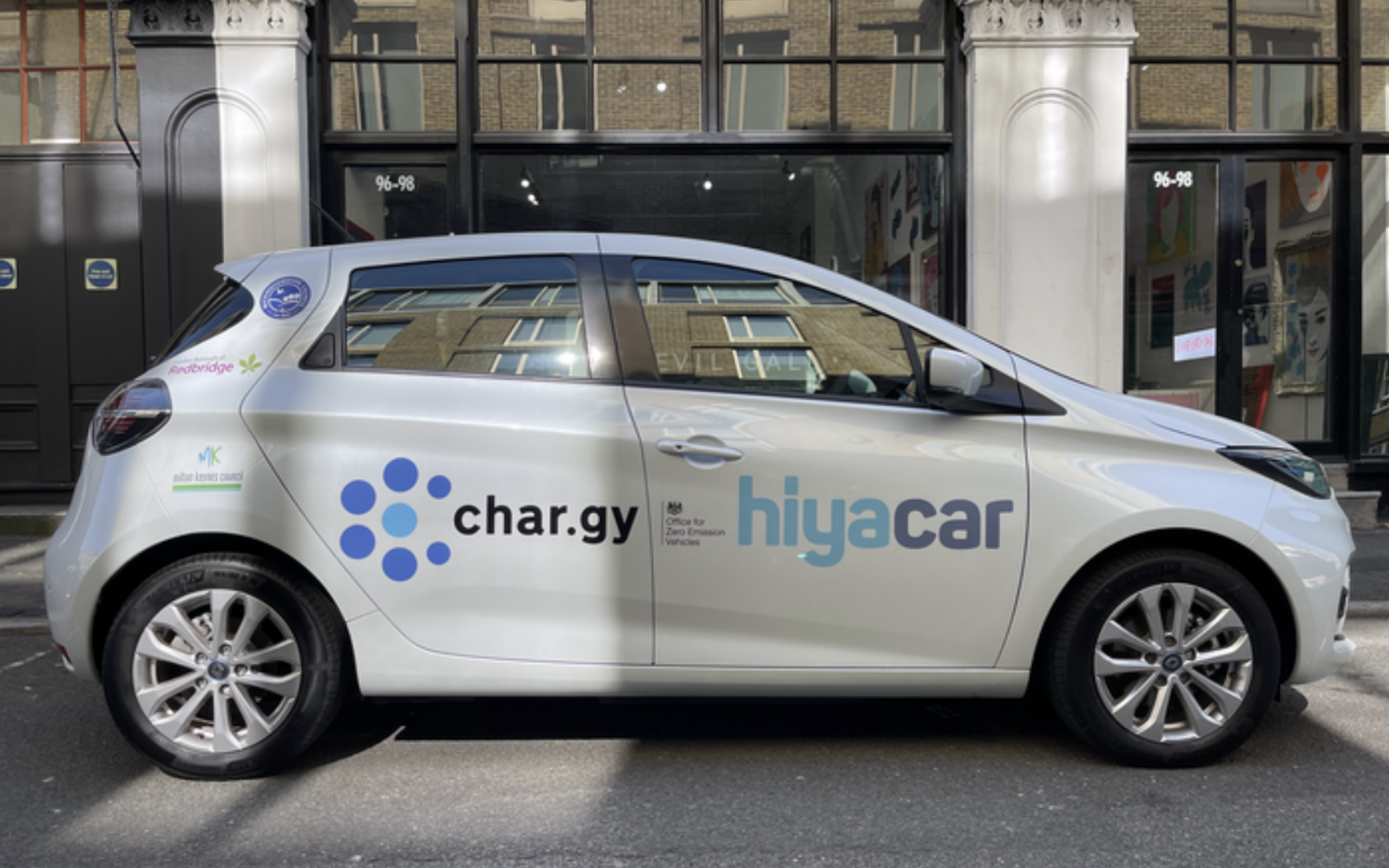 A total of ten wireless charging trials are to be run, with the first located in Marlow. Image: hiyacar.