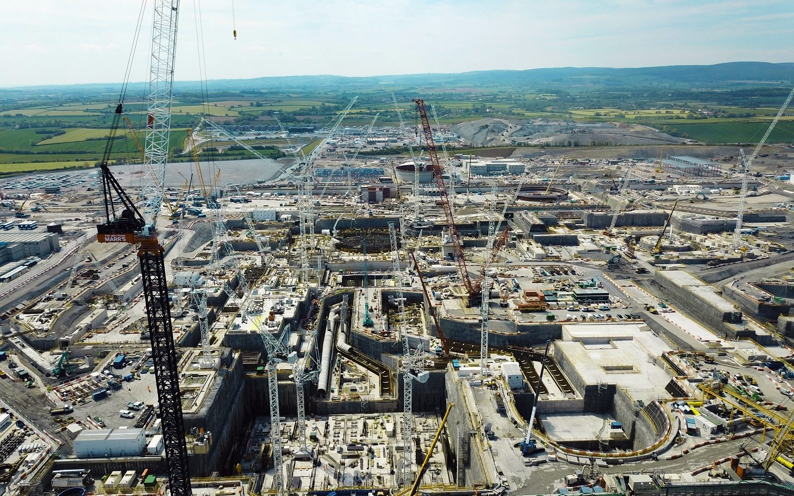 Image: EDF's Hinkley Point C as it stands.