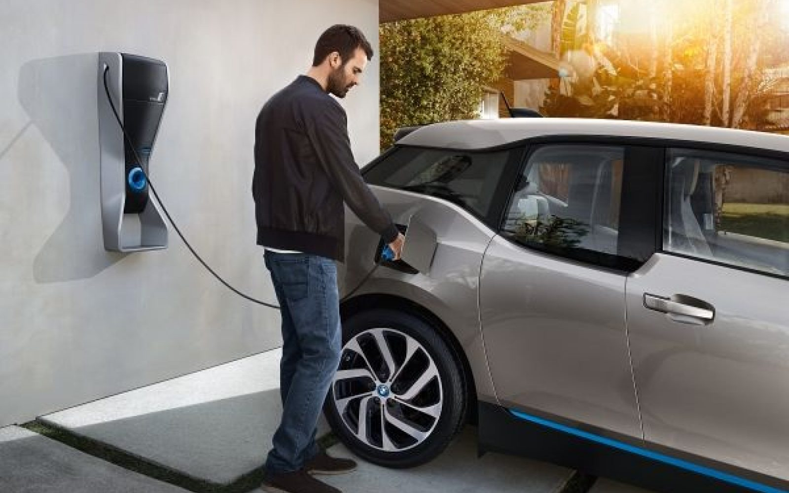 Home charging will remain the dominant from of charging for at least the next phase of electric vehicle take-up. Image: BMW Group.