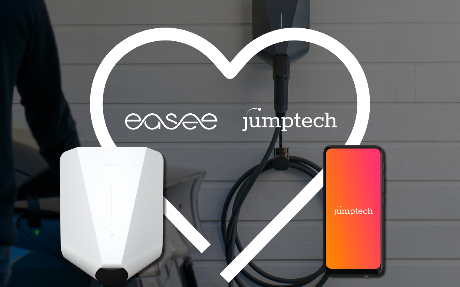 The partnership with Easee follows agreements with ProjectEV, Indra, TSG, Fulcrum and BP Pulse this year. Image: Jumptech.