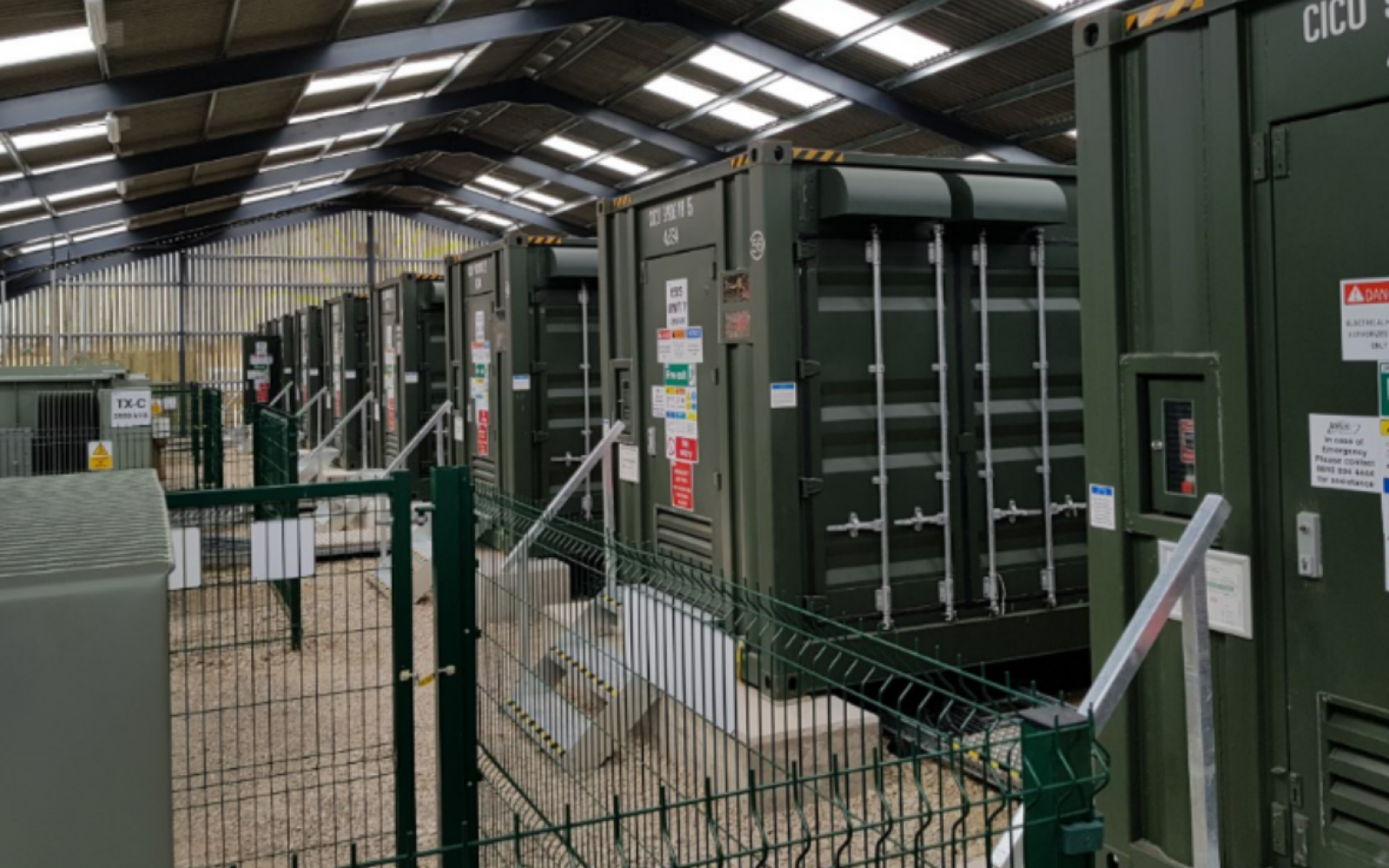Eelpower's Leverton Battery. Image: Centrica Business Solutions.