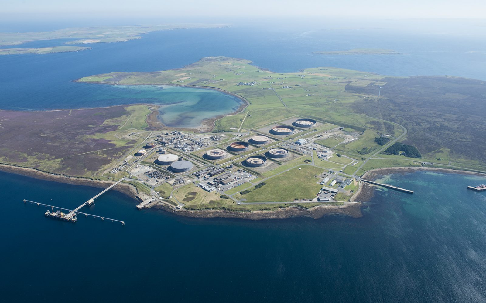 The hydrogen hub will be built at the existing Flotta Terminal, which has sat on the island since 1976. Image: Macquarie's GIG.