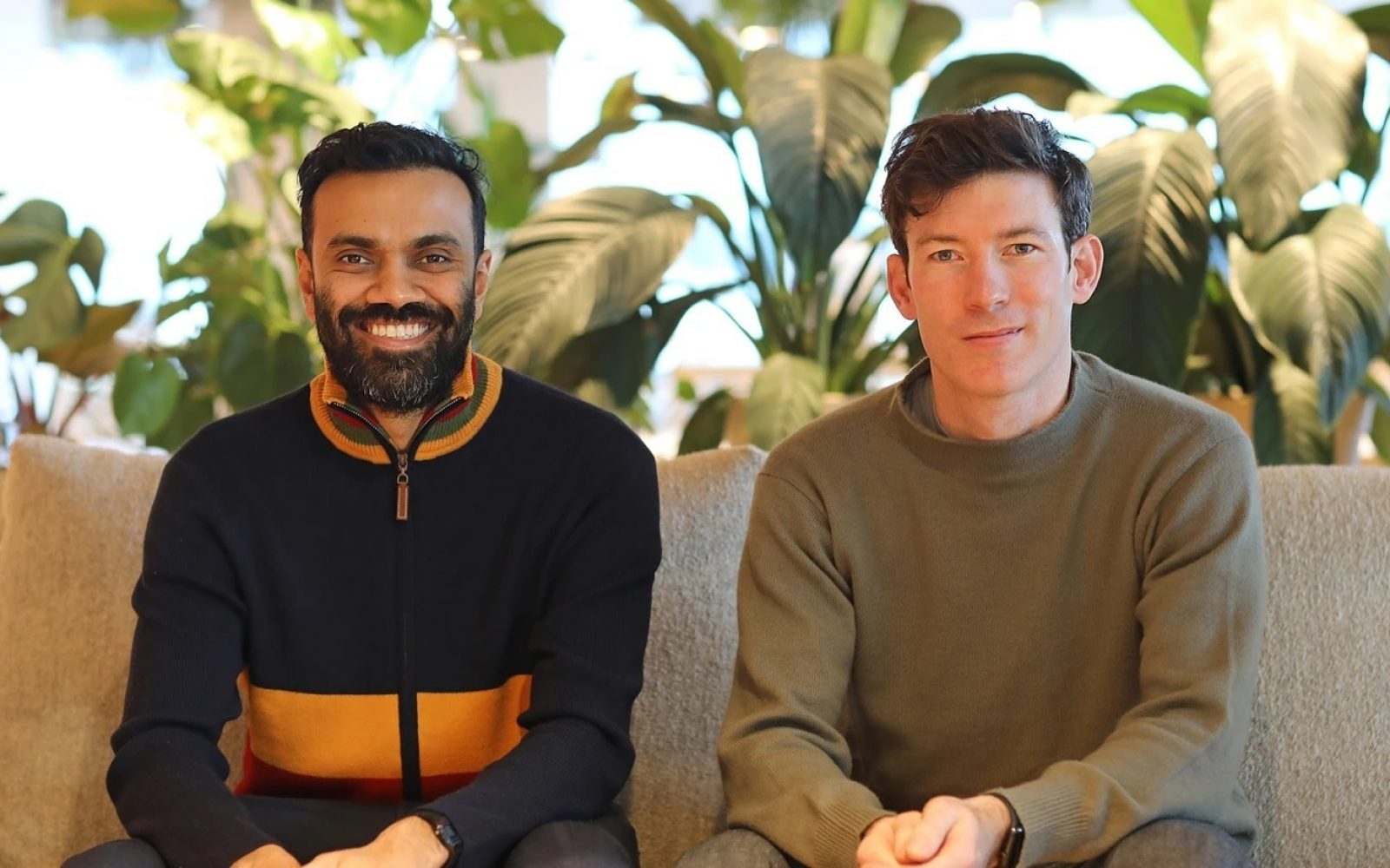 Amit Gudka with fellow Bulb co-founder Hayden Wood. Image: Bulb.