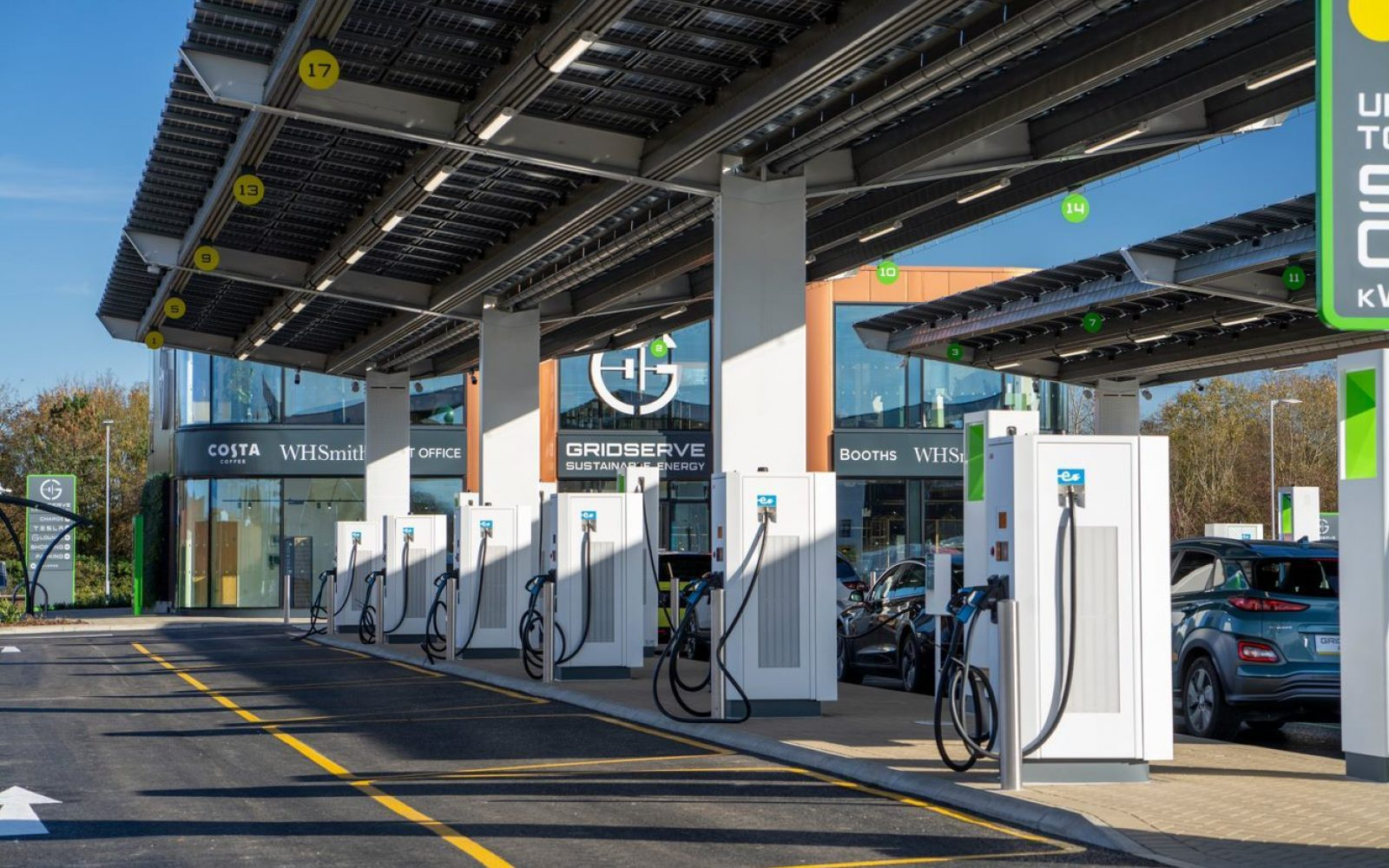 Hitachi Capital UK's relationship with GRIDSERVE has seen funding provided for electric vehicle chargers and hybrid solar farms. Image: GRIDSERVE.