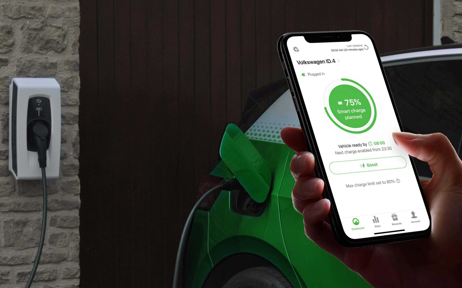 The Indra Smart Pioneer allows drivers to earn back rewards for their smart charging. Image: ev.energy