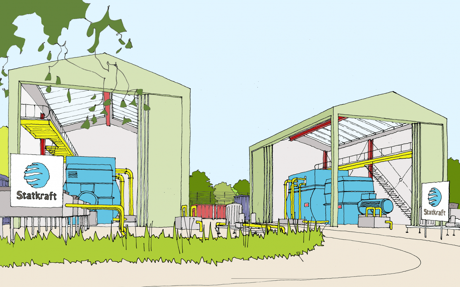 An artist's impression of the Lister Drive site. Image: Statkraft.