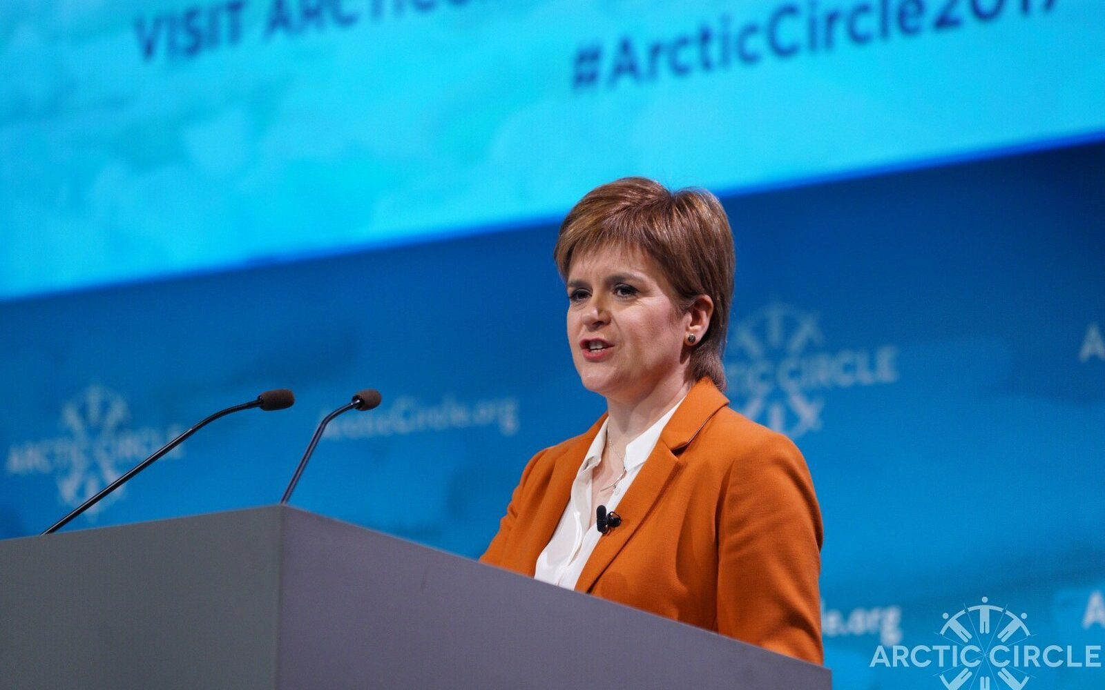 First Minister Nicola Sturgeon. Image: Arctic Circle.
