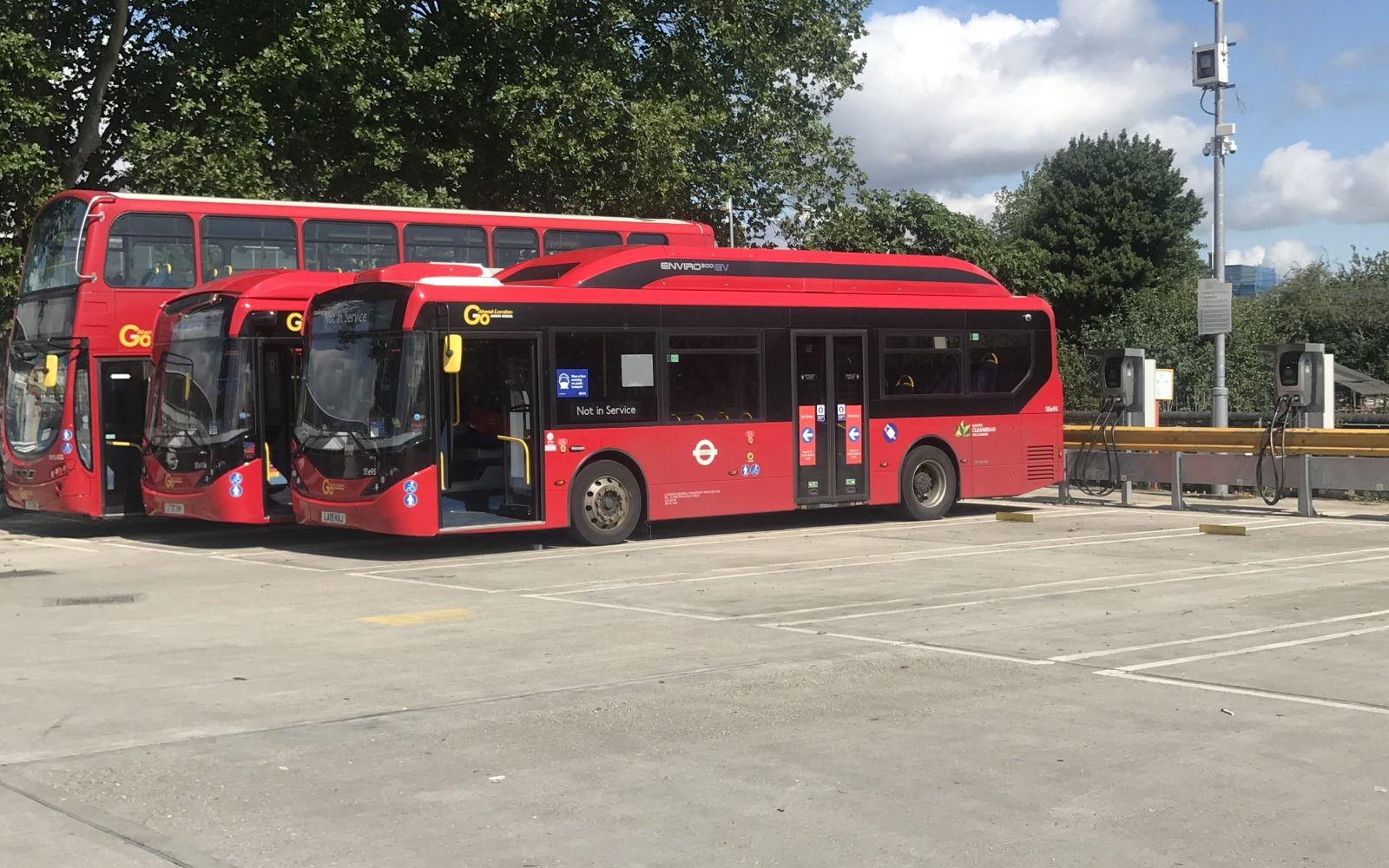 Buses at Northumberland Park garage. Image: SSE Enterprises.