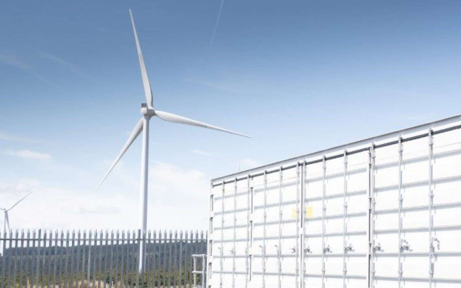 Vattenfall's 22MW/16MWh battery is co-located with the 228MW Pen y Cymoedd Wind Farm in South Wales. Image: Vattenfall.
