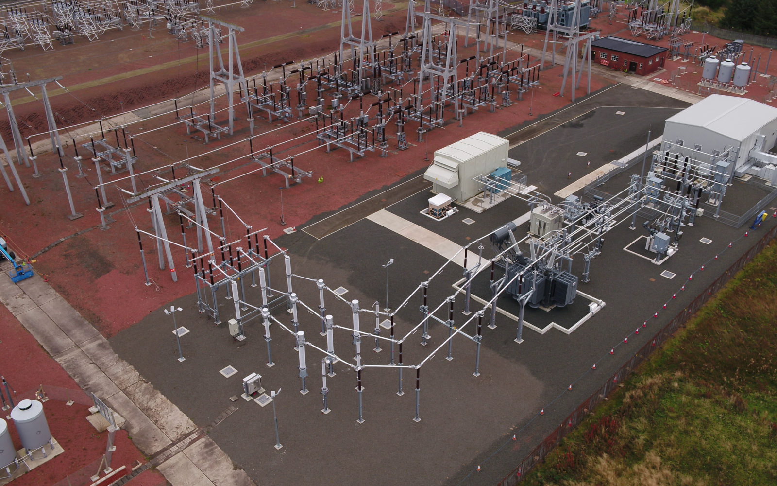 The Neilson substation, where the new Hybrid Synchronous Compensator solution has been installed. Image: SPEN.