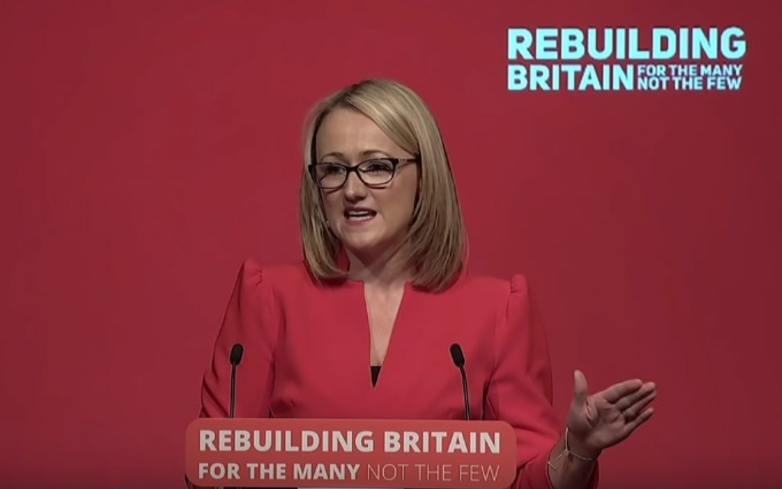 Rebecca Long Bailey at last year's Labour party conference. Image: Labour.