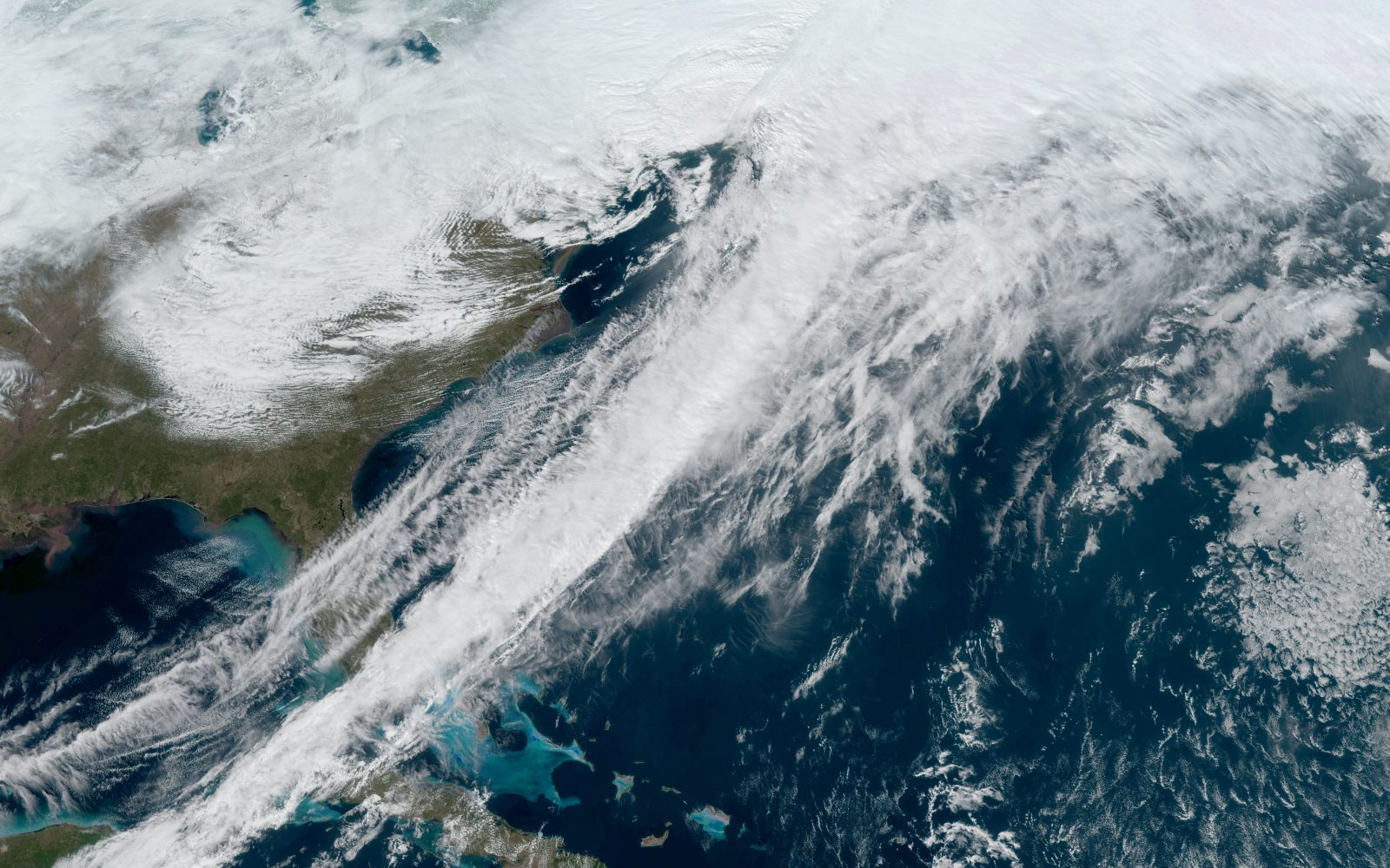 Gusts of up to 97mph, along with torrential rain pounded the country.