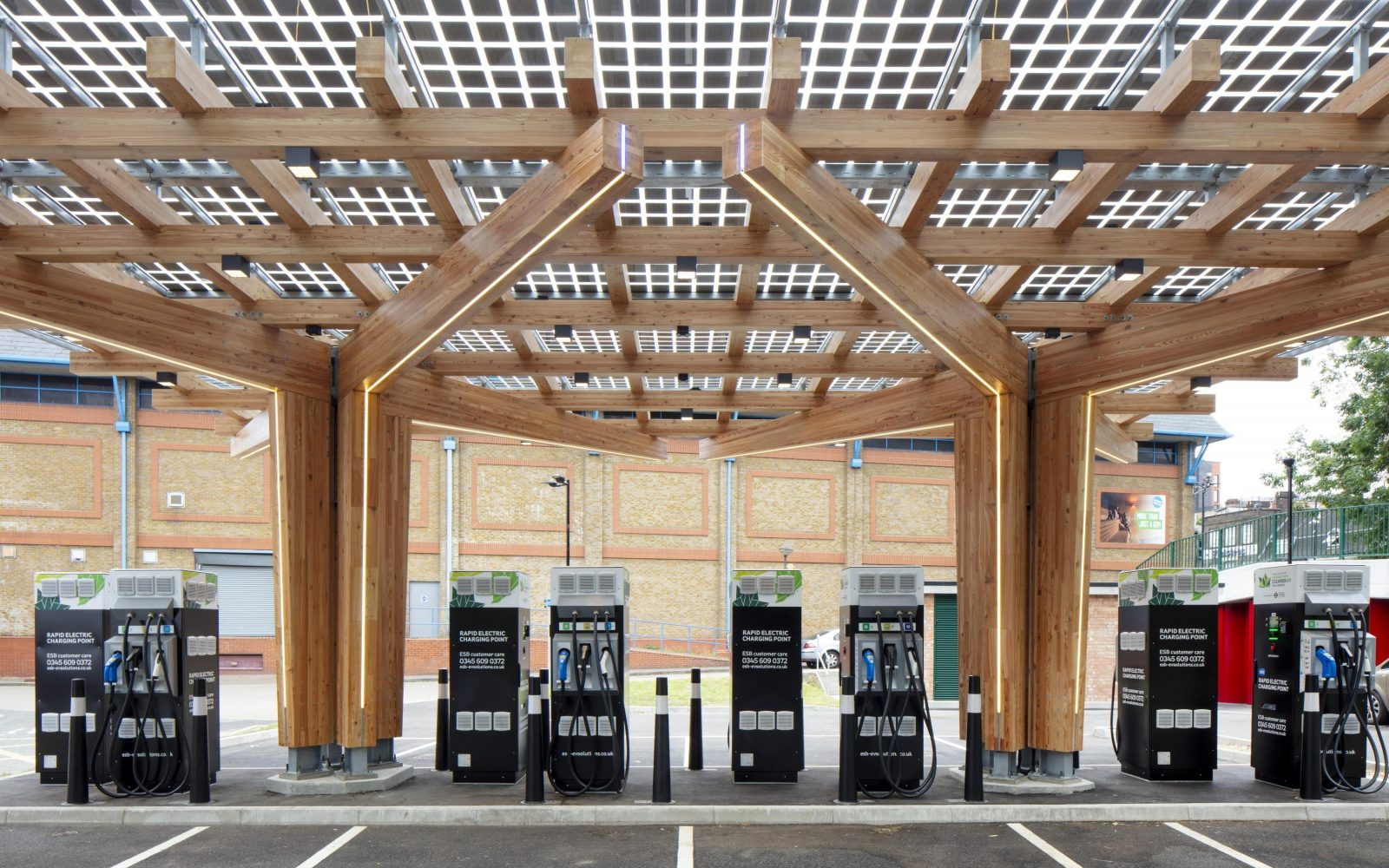 TfL's Glass Yard charging hub sits just outside the South Circular, which the Ultra Low Emission Zone is set to be expanded to. Image: TfL.
