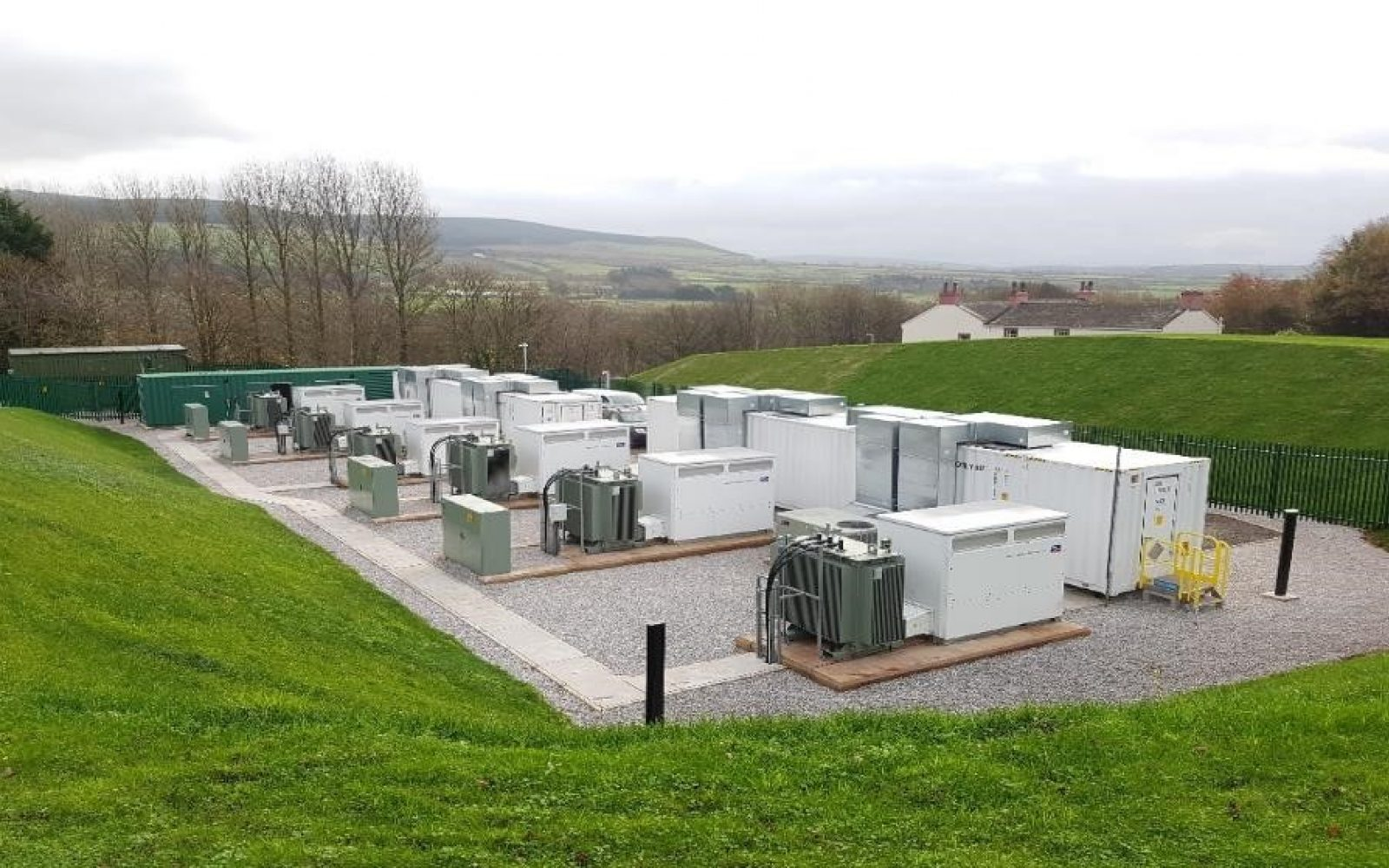 NEC's GSS Grid Storage Solution has previously been used in the UK at VLC Energy's Cleator project (pictured). Image: NEC.