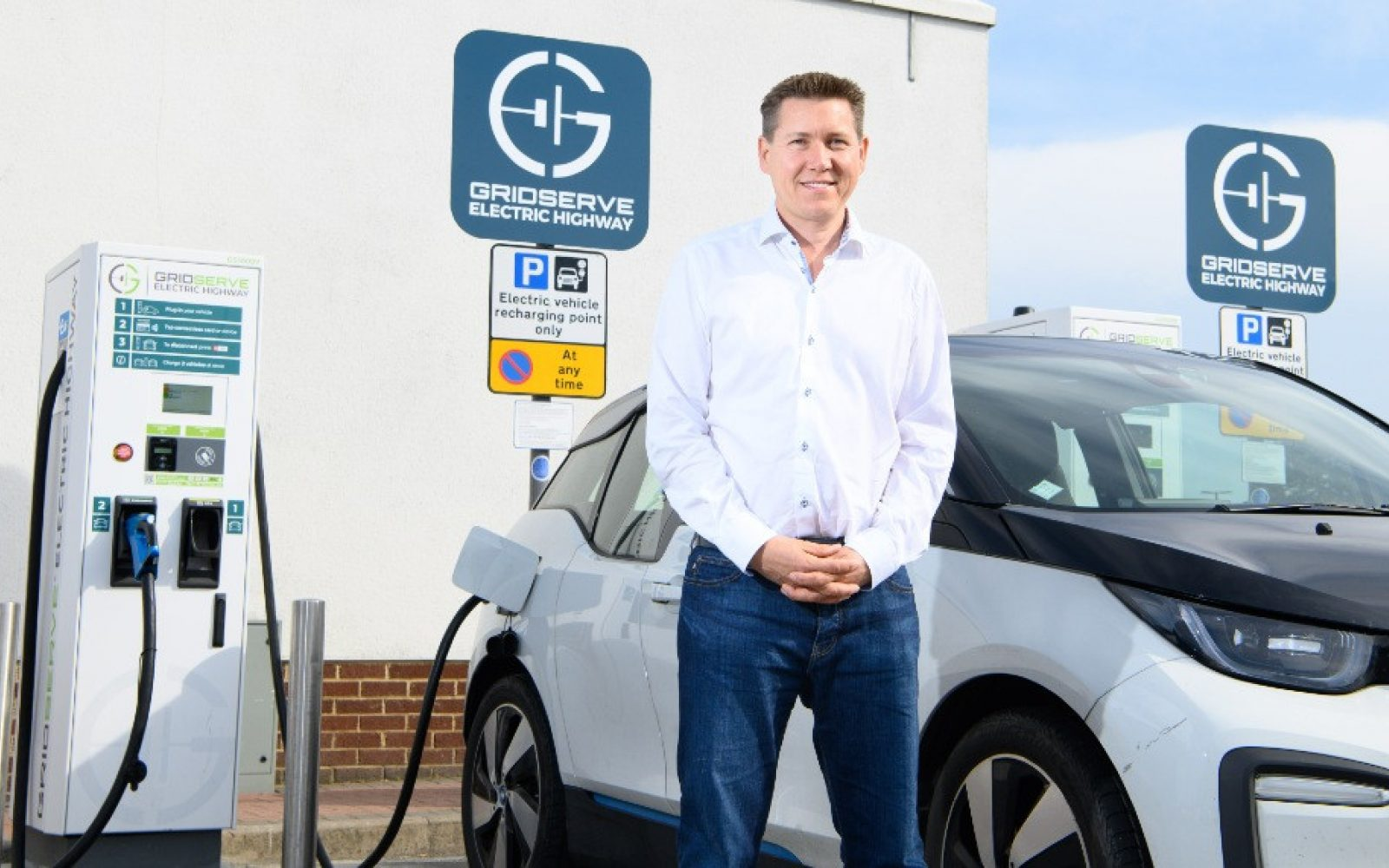 Toddington Harper, CEO of GRIDSERVE, at a GRIDSERVE Electric Highway charging site. Image: Zap-Map.