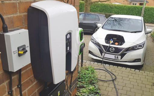 A V2G charger installed as part of the Seev4 City Project. Image: Cenex.