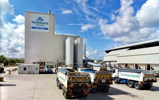 Aggregate Industries' site near Heathrow, which is one of the company's 8 participating in the flexibility platform. Image: Open Energi.