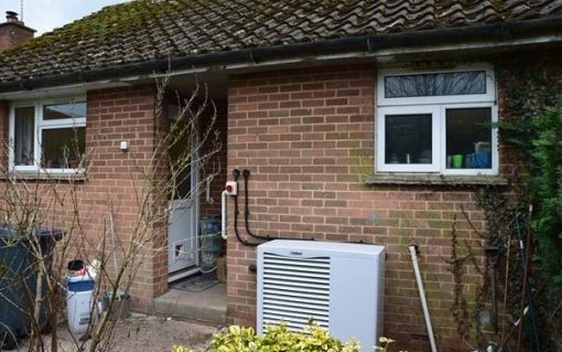 A heat pump installed as part of a Centrica project, the energy giant is one of the suppliers backing the report. Image: Centrica.