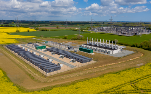 Creyke Beck battery storage site near Cottingham in Humberside. Image: Statera Energy/NatWest.
