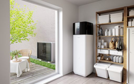Heat pumps are one of the eligible technologies for the Green Homes Grants. Image: Dailkin.
