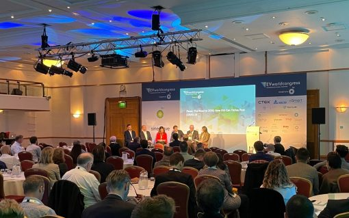 The panels gather in Bristol on the first day of this year's EV World Congress. Image: Solar Media staff.