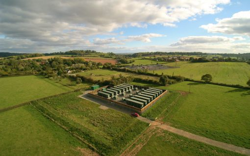 Eelpower's Rock Farm storage site in Shropshire. Image: Eelpower.