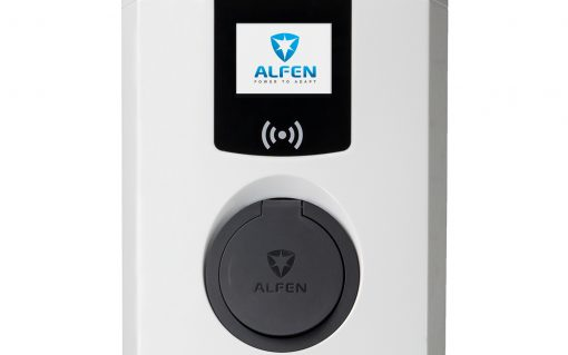 Alfen Eve Single Pro-line chargers. Image: Moixa and Alfen.