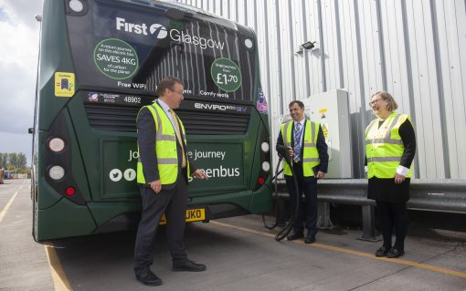The chargers have been installed at First Bus' Caledonia Depot. Image: First Bus