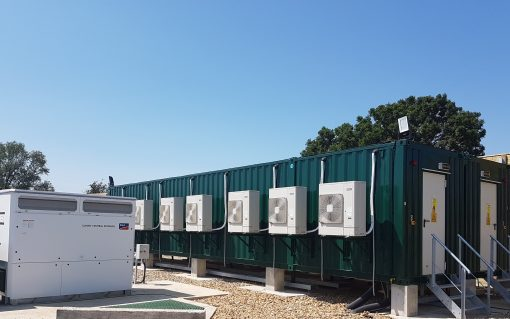 Gresham House Energy Storage Fund's 50MW Wickham Market battery project in Suffolk. Image: GRID.