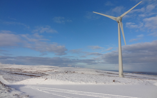 Hammars Hill in Orkney, one of the wind projects helping to make the island 100% renewable. Image: OREF.