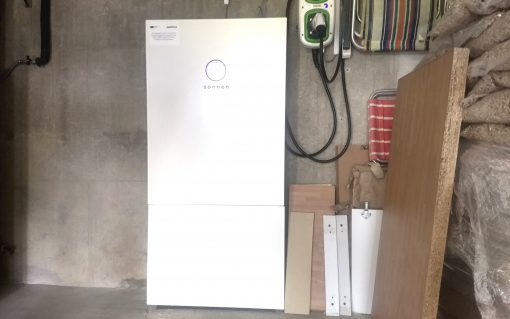 A 10kW sonnen battery installed as part of the LEM in the home of David and Anna Corns.