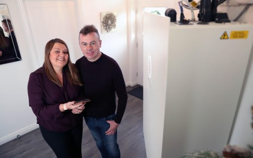 Parc Eirin residents Sharon and Paul Jones's home was one of 20 involved in the trial. Image: Sero.