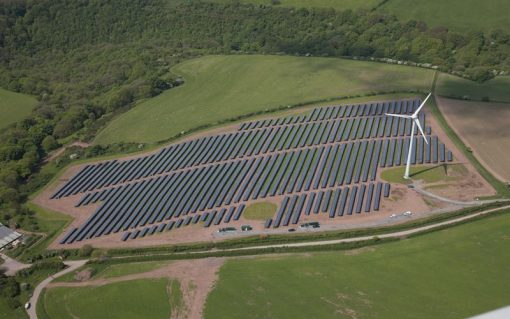Vattenfall has co-located solar and wind at the Parc Cynog site in Wales (pictured). Image: Vattenfall.