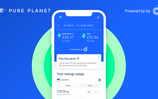 Pure Planet's new service will offer cost per mile data, cost per charge and CO2 emission savings for EV drivers. Image: Pure Planet