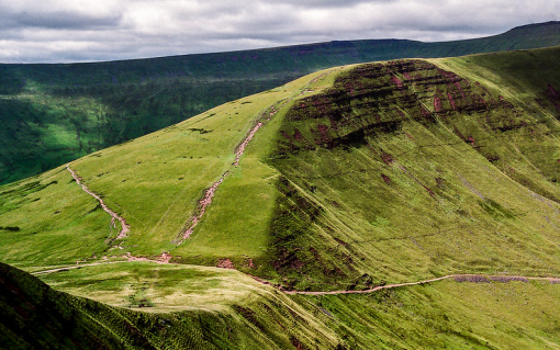 Brecon Beacons in South Wales. Image: Robert J Heath.