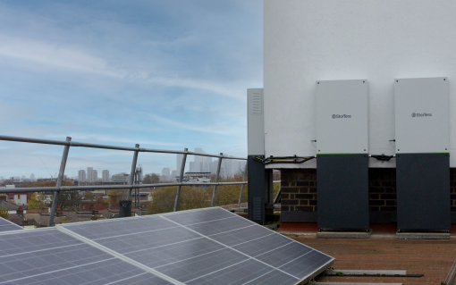 The Urban Energy Club project has seen a 10kW/20kWh battery installed alongside pre-existing solar PV. Image: EDF