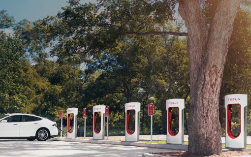 Currently, the Tesla Supercharger network can only be used by Tesla vehicles. Image: Tesla