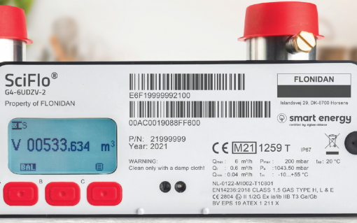 The SciFlo meter (pictured) is now to be offered by SMS as part of the deal with Aclara. Image: SMS