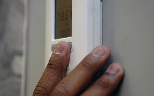 Thermostat. Image: U.S. Air Force photo/Airman 1st Class Katie Gieratz.