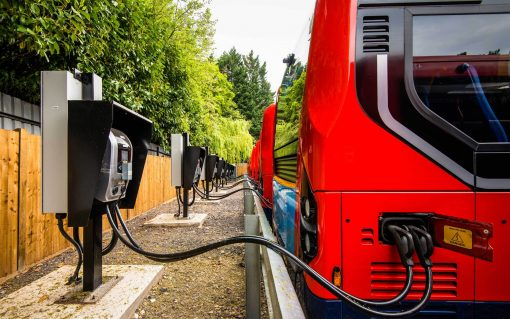 The solution involves the installation of battery storage at a bus depot, allowing 16 buses to charge at once. Image: Zenobe