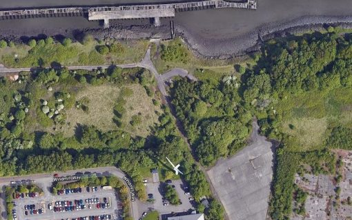 An aerial view of the site. Image: South Tyneside Council.