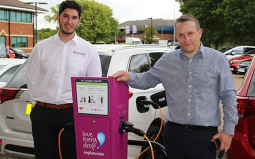 Anglian Water has started with ten Rolec chargers at six locations, with ten more to follow very soon. Image: Rolec.