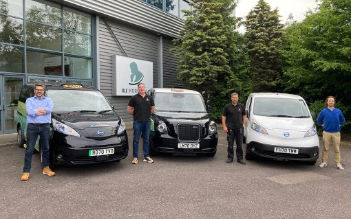 Ten electric taxis are to take part in the trial, which starts next month. Image: Sprint Power.