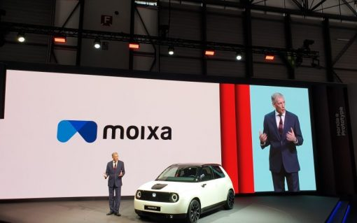 The launch of the Honda e in 2019. Image Honda/Moixa.